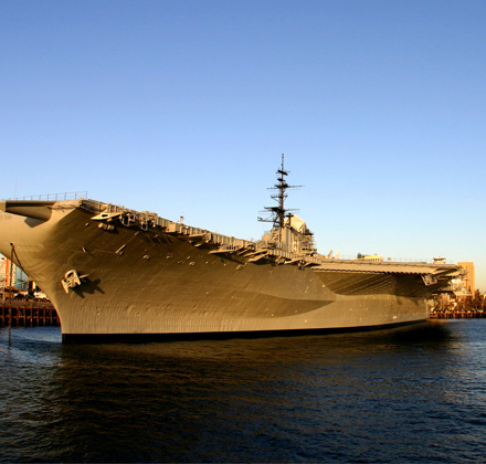 USS midway in the San Diego Bay