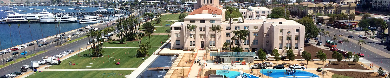 Arial view of Wyndham San Diego property
