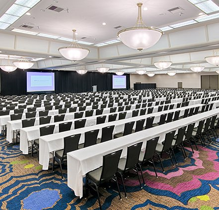 large room set up for a conference at Wyndham San Diego