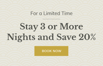 Stay 3 Nights, Save 20%
