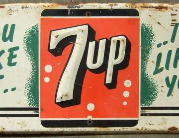 Vintage 7 Up Road Sign