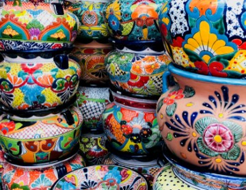 colourful ceramic talavera pots