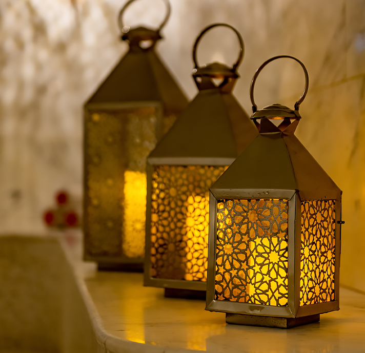 thre beautiful lanterns