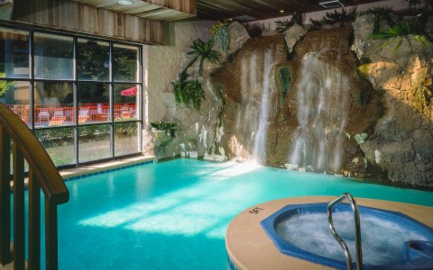 Indoor pool and spa - gallery image