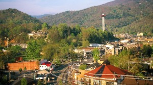 View of Gatlinburg town