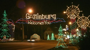Gatlinburg welcomes you christmas lights say
