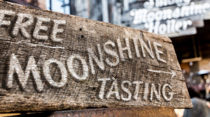 Free Moonshine tasting sign