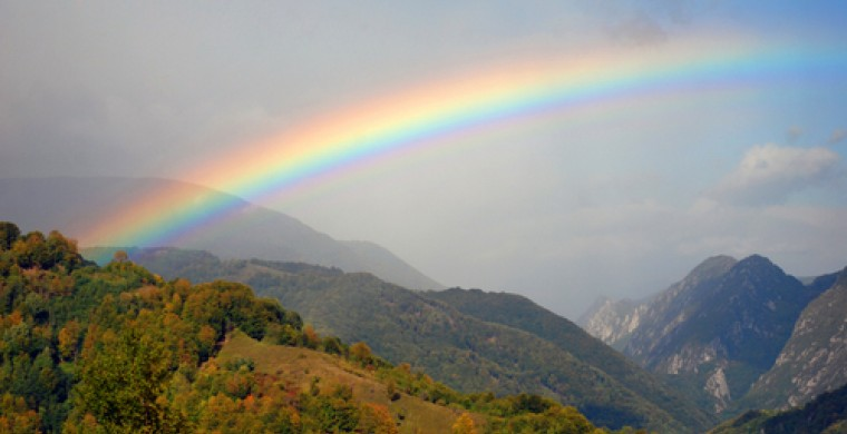 Rainbow over the Smoky Mountains
