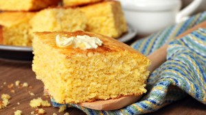 Freshly made cornbread