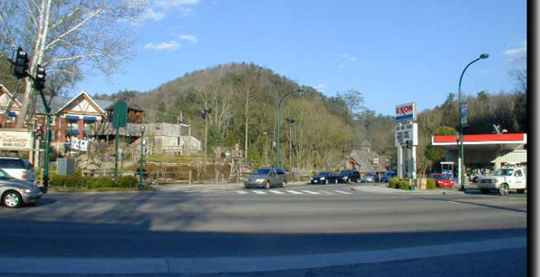 The Dudley Creek Bypass road in Gatlinburg