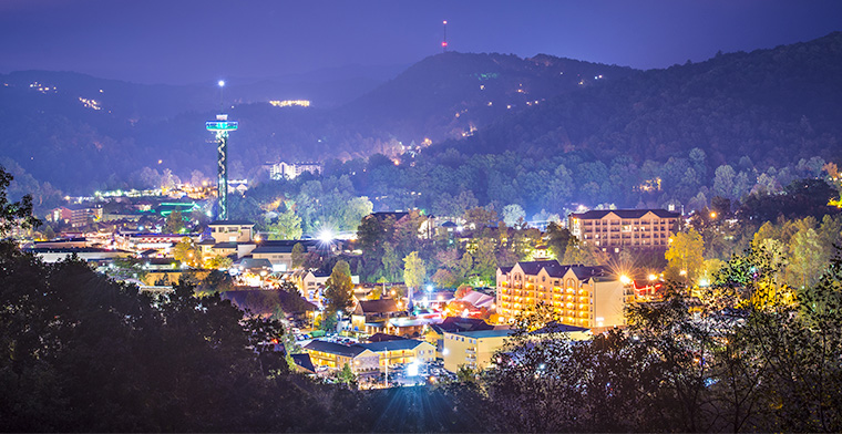 Gatlinburg night lights